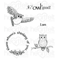 Heartfelt Creations Cling Stamps It's Owl Good FREE SHIPPING