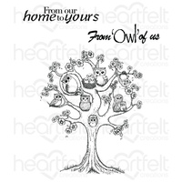 Heartfelt Creations Cling Stamps Sugar Hollow Tree FREE SHIPPING