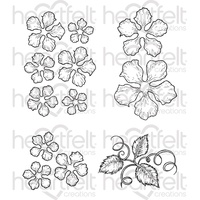 Heartfelt Creations Cling Stamps Classic Rose FREE SHIPPING