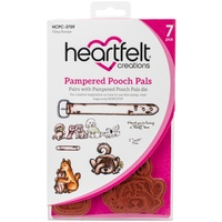 Heartfelt Creations Cling Stamps Pampered Pooch Pals FREE SHIPPING