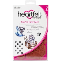 Heartfelt Creations Cling Stamps You're Paw-Fect FREE SHIPPING