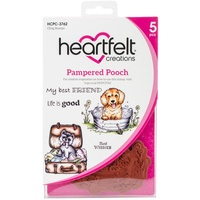 Heartfelt Creations Cling Stamps Pampered Pooch FREE SHIPPING