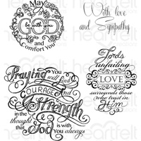 Heartfelt Creations Cling Stamps Courage and Strength FREE SHIPPING