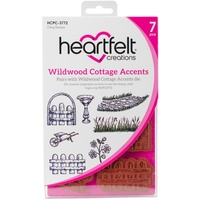Heartfelt Creations Cling Stamps Wildwood Cottage Accents FREE SHIPPING