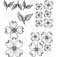 Heartfelt Creations Cling Stamps Flowering Dogwood FREE SHIPPING