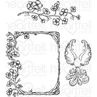 Heartfelt Creations Cling Stamps Flowering Dogwood Branches FREE SHIPPING