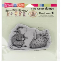Stampendous Mouse Cling Stamps Strawberry Wish