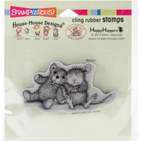 Stampendous Mouse Cling Stamps Teddy Friend
