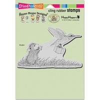 Stampendous Cling Rubber Stamps Carrier Hummer