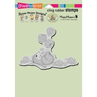 Stampendous Mouse Cling Stamps Juggling Berries