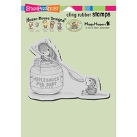 Stampendous Mouse Cling Stamps Feeding Baby