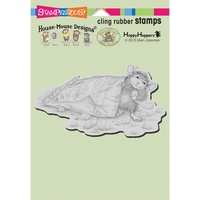 Stampendous Mouse Cling Stamps Cheese Puffs