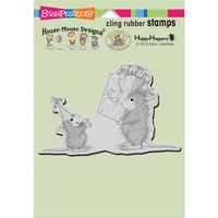 Stampendous Mouse Cling Stamps Birthday Gift