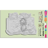 Stampendous Cling Rubber Stamps House Mouse Tissue Box