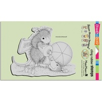 Stampendous Cling Rubber Stamps House Mouse Sunblock Squirt