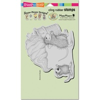 Stampendous Cling Rubber Stamps Soft Serve Spill