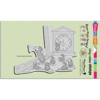 Stampendous Cling Rubber Stamps House Mouse Teacher Tale