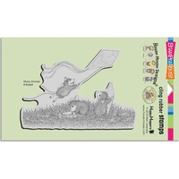 Stampendous Cling Rubber Stamps House Mouse Kite Flight