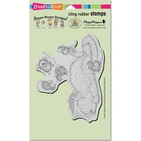 Stampendous Cling Rubber Stamps Kitty Bounce