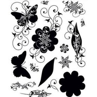 Silhouettes & Shadows Clear Stamps Great for Scrapbooking & Cardmaking