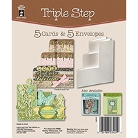 Hot Off The Press Triple Step DieCut Cards with Envelopes 5/Pkg