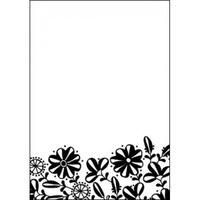 Hobby Solution Embossing Folder mpress Mandys Garden Flower Border 10.6cm x 15cm