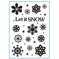 Crafts-Too Embossing Folder Let It Snow 4.25x5.5