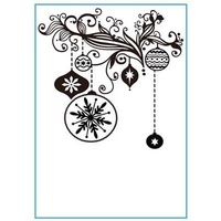 Hobby Solution Embossing Folder Christmas Decorations 4.25x5.5
