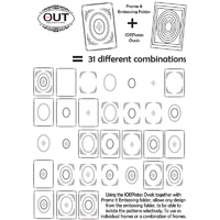 IOE Plates Oval Set and Frame It Embossing Folder 5x7 FREE SHIPPING