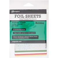 Inkssentials Foil Sheets 4.69X3.56 10/Pkg Holiday
