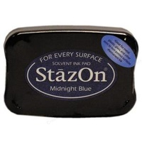 StazOn Craft Ink  Midnight Blue