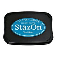 StazOn Craft Ink  Teal Blue