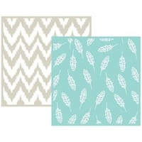 We R Memory Keepers 6 x 6 Embossing Folders 2PK Feather
