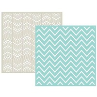We R Memory Keepers 6 x 6 Embossing Folders 2PK Chevron