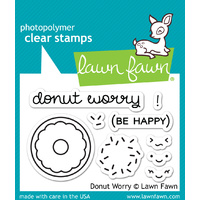 Lawn Fawn Stamps Donut Worry LF1136