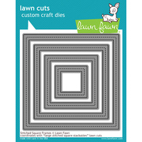 Lawn Fawn Cuts Stitched Square Frames Die LF1143