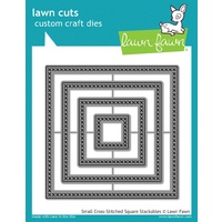 Lawn Fawn Cuts Small Cross Stitched Square Stackables Dies LF1183 FREE SHIPPING