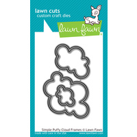 Lawn Fawn Cuts Simple Puffy Cloud Frames Dies LF1203 FREE SHIPPING