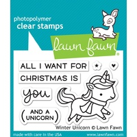 Lawn Fawn Stamps  Winter Unicorn LF1218