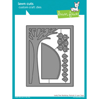 Lawn Fawn Cuts Leafy Tree Backdrop: Potrait Die LF1238