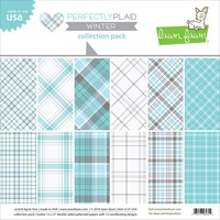 Lawn Fawn 12 x12 Double-Sided Perfectly Plaid Winter Paper Pack
