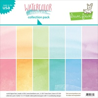 Lawn Fawn 12 x12 Double-Sided Watercolor Wishes Paper Pack