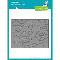 Lawn Fawn Cuts Stitched Cloud Backdrop: Landscape LF1423