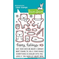 Lawn Fawn Here Beary Happy Holidays Stamp+Die Bundle