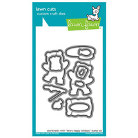 Lawn Fawn Cuts Beary Happy Holidays Lawn Cuts LF1471