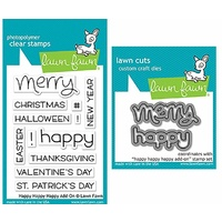 Lawn Fawn Happy Happy Happy Add-On Stamp+Die Bundle