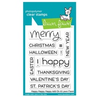 Lawn Fawn Stamps Happy Happy Happy Add-On LF1478