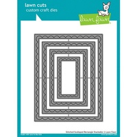 Lawn Fawn Cuts Outside In Stitched Scalloped Rectangle Stackables LF1505