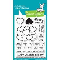 Lawn Fawn Stamps how you bean? conversation heart add-on LF1553
