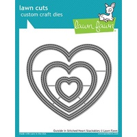 Lawn Fawn Cuts Outside in Stitched Heart Stackables Dies LF1563